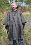Olive Green Ripstop  Poncho