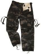 Black Camo Vintage BDU Trousers by Surplus RAW