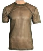 Olive Green Mesh T-Shirt