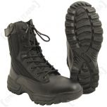 Dual Zipped Black Tactical Boots