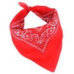 Western Style Cotton Bandana - Red