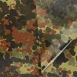 German Flecktarn Coated Ripstop 110gr Fabric - 160cm x 100cm