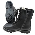 Lined German Pilots Style Boots with Side Zip