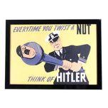 US Naval Propaganda Poster Framed Print Thumbnail