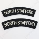 North Stafford Regiment Shoulder Titles - Imperfect Front