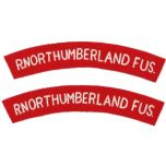 R. Northumberland Fus. Shoulder titles - Imperfect