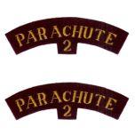 Parachute 2 Shoulder flashes