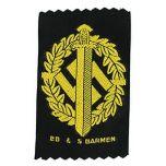 WW2 German SA Sports Bevo Gold Badge Thumbnail