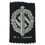 WW2 German SA Sports Bevo Silver Badge Thumbnail