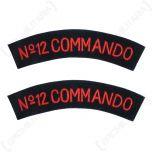WW2 British 12 Commando Shoulder Titles