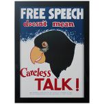 WW2 American Careless Talk Framed Print