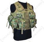 9 Pocket Arid Woodland Camo Tactical Vest