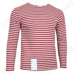 Russian Oman Long Sleeve Top Red Stripes