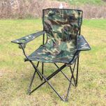 Outdoor Camping Chair - Woodland Camo