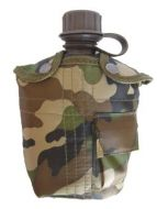 Woodland Camo Water Bottle With Cover