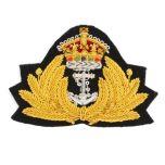 WW2 Navy Peak Cap Badge - Kings Crown Thumbnail