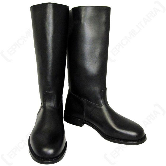 Leather Jackboots (with heelplate) - Epic Militaria